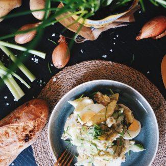 Rezept   Leichter Kartoffelsalat mit Jogurt   Veggie
