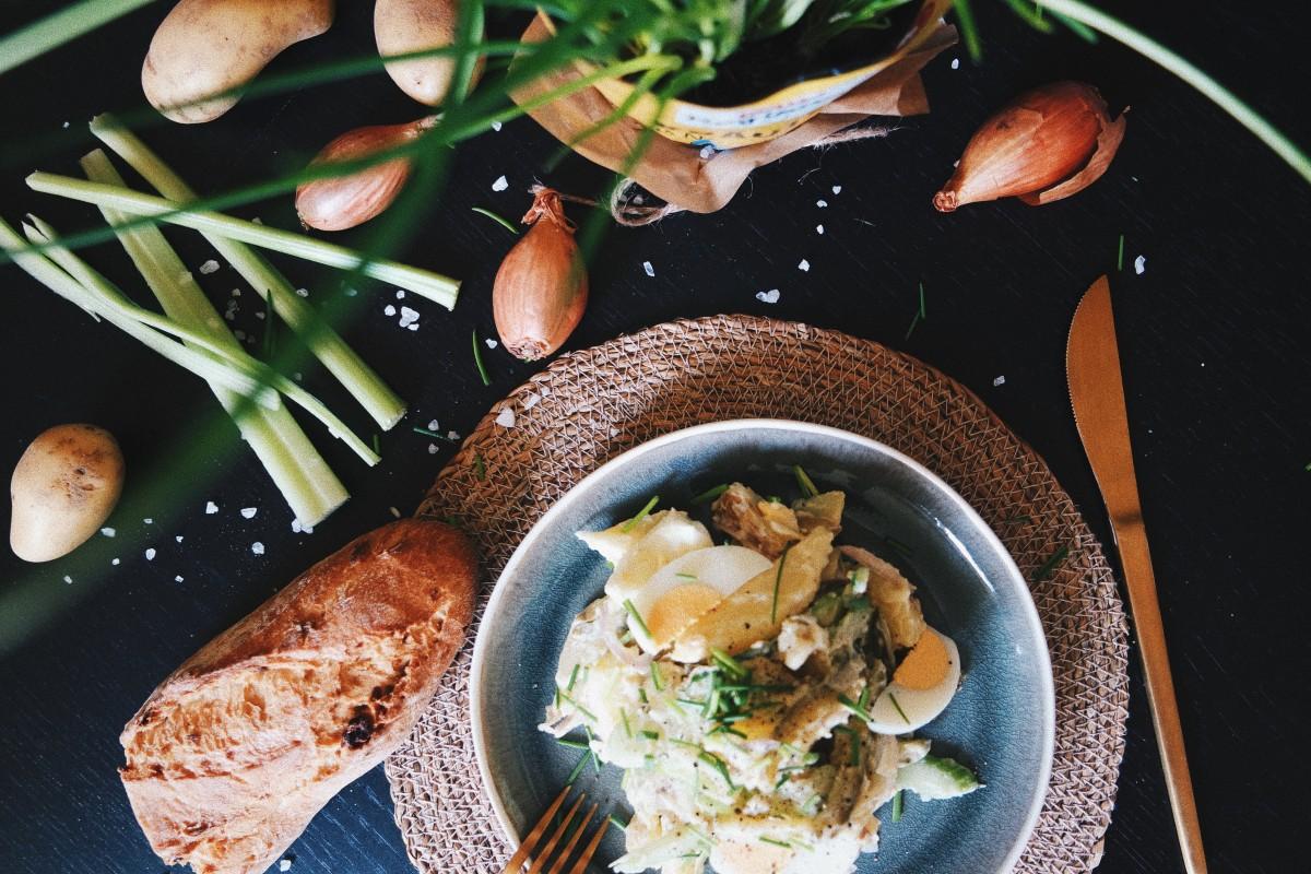 Rezept | Leichter Kartoffelsalat mit Jogurt | Veggie